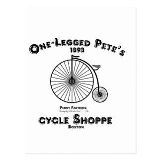 Un Shoppe del ciclo de Pete Legged, Boston Postales