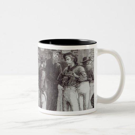 Un shout', general dentro de una taberna del arbus taza de café
