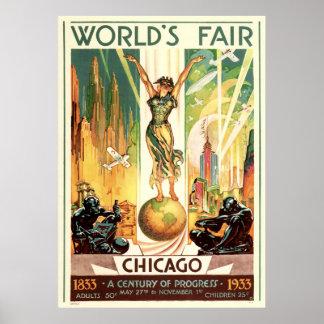 Un siglo de progreso - la feria 1933 de mundo de C Póster