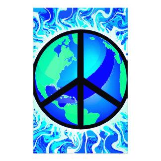 Un signo de la paz del mundo papelería