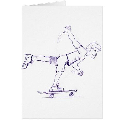 Un skater áspero del pie tarjeta de felicitación