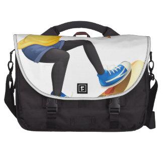 Un skater femenino bolsas para ordenador