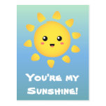 Un sol lindo y feliz que brilla brillantemente alr tarjetas postales