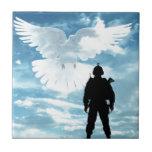 Un soldado para la paz azulejo