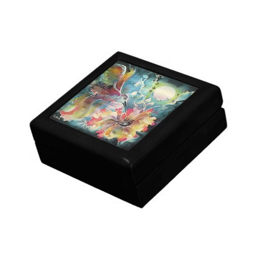 Un solo colibrí caja de regalo