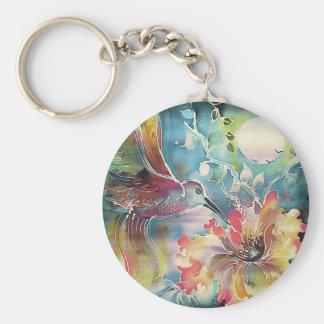 Un solo colibrí llavero redondo tipo pin