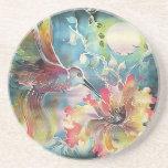 Un solo colibrí posavasos personalizados