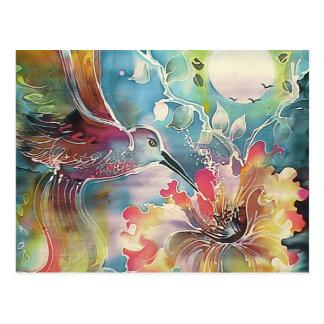 Un solo colibrí postal
