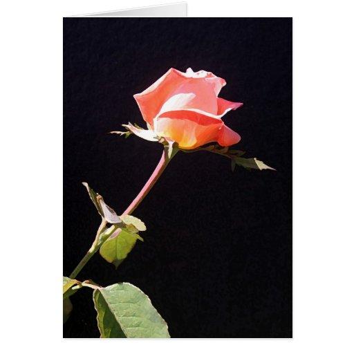 un solo color de rosa especial tarjeta de felicitación