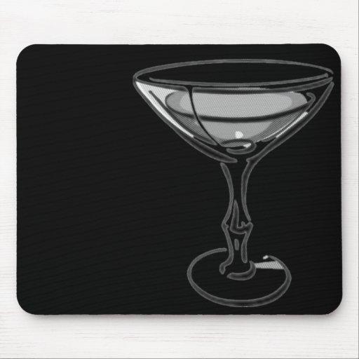 Un solo Martini - B&W gris Alfombrilla De Raton