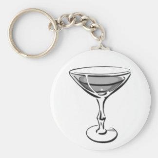 Un solo Martini - B&W gris Llavero Redondo Tipo Pin
