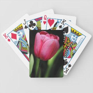 Un solo tulipán cartas de juego