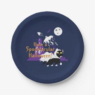 Un Spooktacular Halloween Plato De Papel De 7 Pulgadas