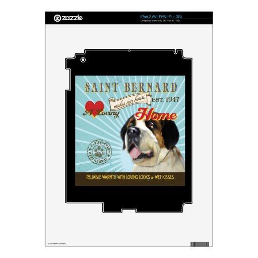 Un St Bernard cariñoso hace nuestro hogar de la ca Calcomanías Para iPad 2