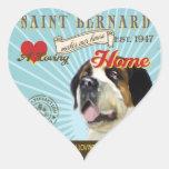 Un St Bernard cariñoso hace nuestro hogar de la Calcomanías De Corazones