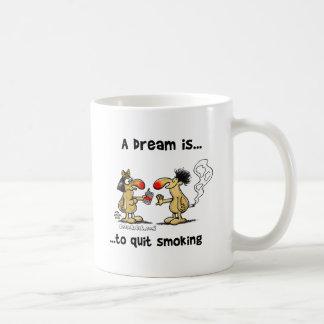 Un sueño es… El fumar abandonado Taza Básica Blanca