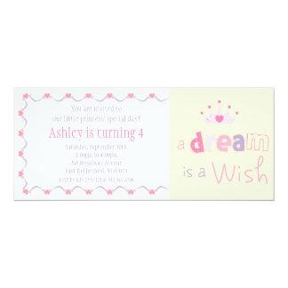 Un sueño es princesa Invitation del deseo Invitacion Personalizada