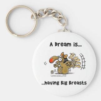 Un sueño es… Tener pechos grandes Llavero Redondo Tipo Pin