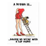 Un sueño es… Tener un asunto con Top Model Tarjetas Postales