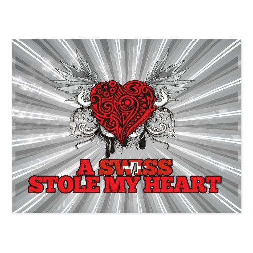 Un suizo robó mi corazón tarjetas postales