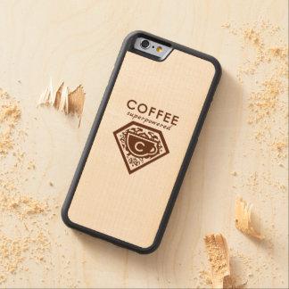 Un super héroe de Supercaffeinated - café Brown Funda De iPhone 6 Bumper Arce