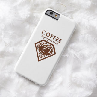 Un super héroe de Supercaffeinated - café Brown Funda Para iPhone 6 Barely There