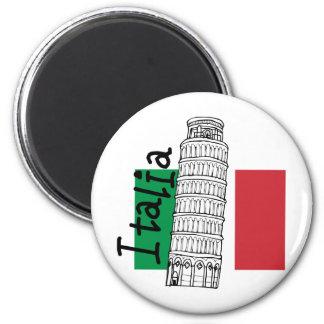 Un tacto de Italia Imán Redondo 5 Cm