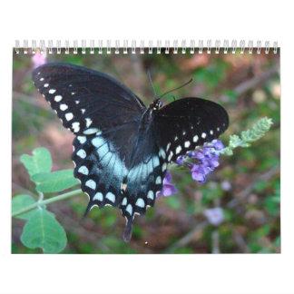 Un tacto de la mariposa de Sun Calendario De Pared