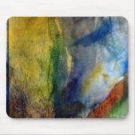 Un tacto del cojín de ratón amarillo de la pintura alfombrilla de raton