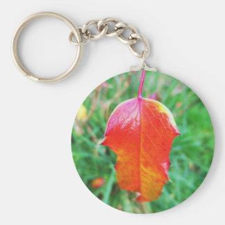 Un tacto del otoño llavero redondo tipo pin