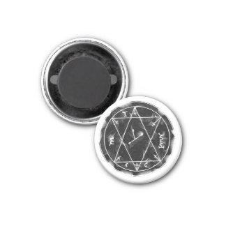 Un talismán para encontrar los tesoros ocultados imán redondo 3 cm