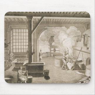 Un taller tintóreo de seda, del 'DES de Encycloped Alfombrillas De Raton