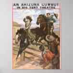 Un teatro retro del vaquero de Arizona Impresiones