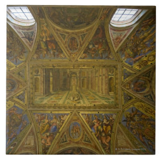 Un techo frecoed por Raphael en el Pasillo de Azulejo Cuadrado Grande