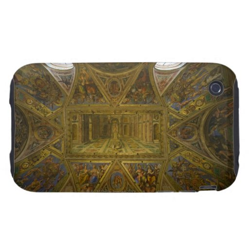 Un techo frecoed por Raphael en el Pasillo de Tough iPhone 3 Cárcasa