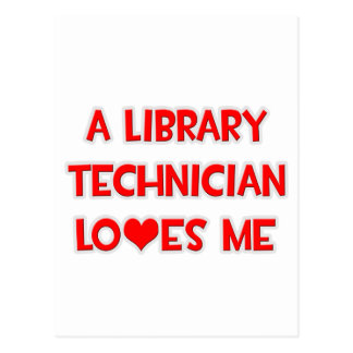 Un técnico de la biblioteca me ama postal