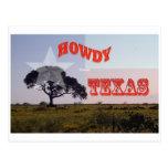 ¡Un Tejas Howdy! Postal