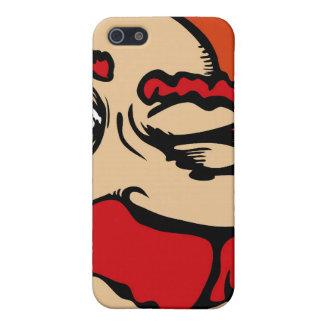 Un teléfono rojo observado iPhone 5 funda