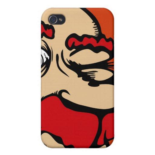 Un teléfono rojo observado iPhone 4 cobertura