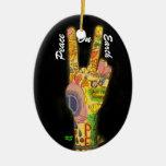 Un tema pacífico - signo de la paz adorno