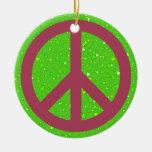 Un tema pacífico - signo de la paz ornamento de reyes magos