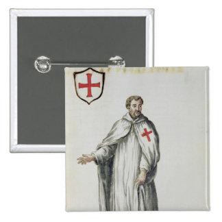 Un Templar veneciano Pin Cuadrado