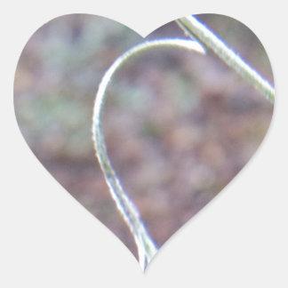 Un tendril del afecto pegatina en forma de corazón