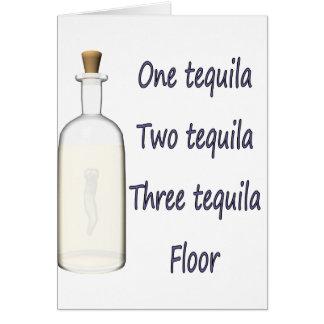 Un tequila cuatro del tequila tres del tequila dos tarjetas