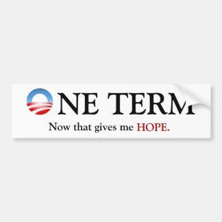 Un término Obama Pegatina De Parachoque