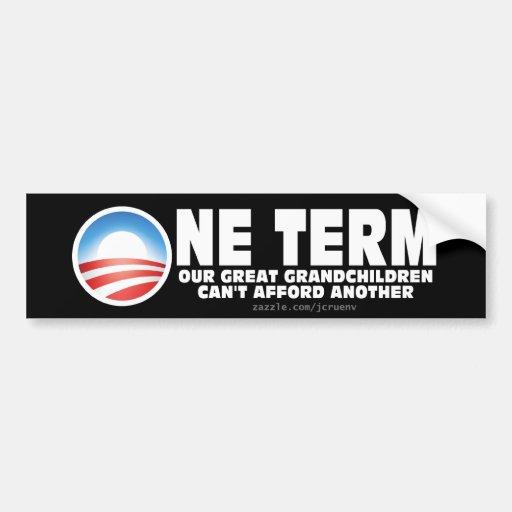 Un término para Obama Pegatina Para Auto