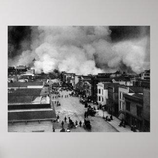 un terremoto de Francisco de 1906 Póster