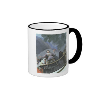 Un testigo extático taza de café