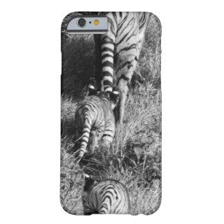 Un tigre con sus dos cachorros en el parque funda barely there iPhone 6