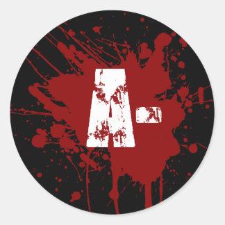 Un tipo de sangre negativo zombi del vampiro de la pegatinas redondas